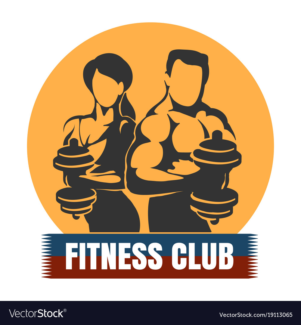 Man and woman fitness club logo design Royalty Free Vector for Physical Fitness Design  113lpg