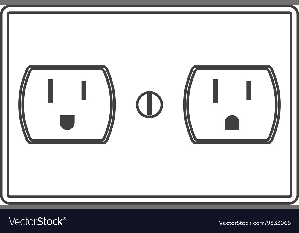 Power Outlet Icon Vector Image