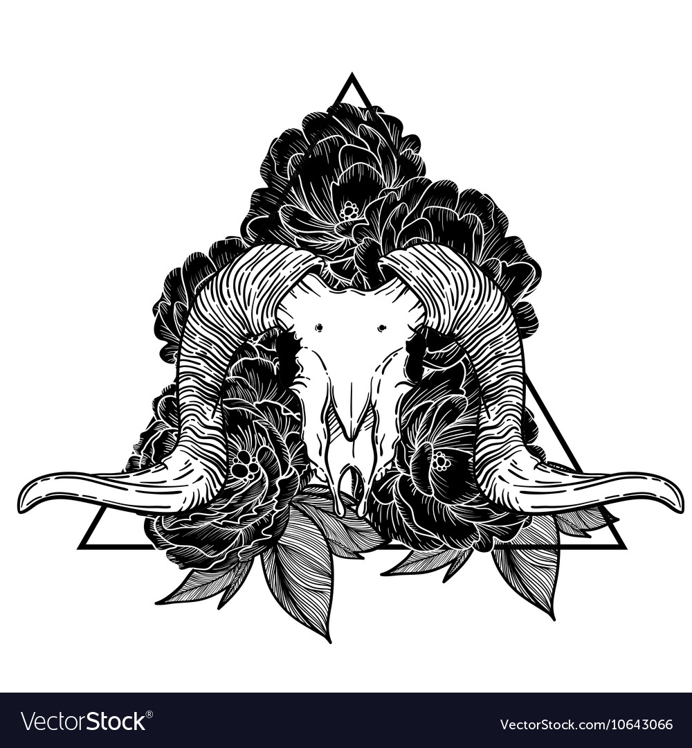 Ram skull occult symbol goat royalty free vector image ram skull occult symbol goat vector image biocorpaavc