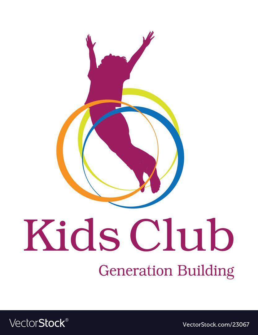 Kids club logo Vector Image