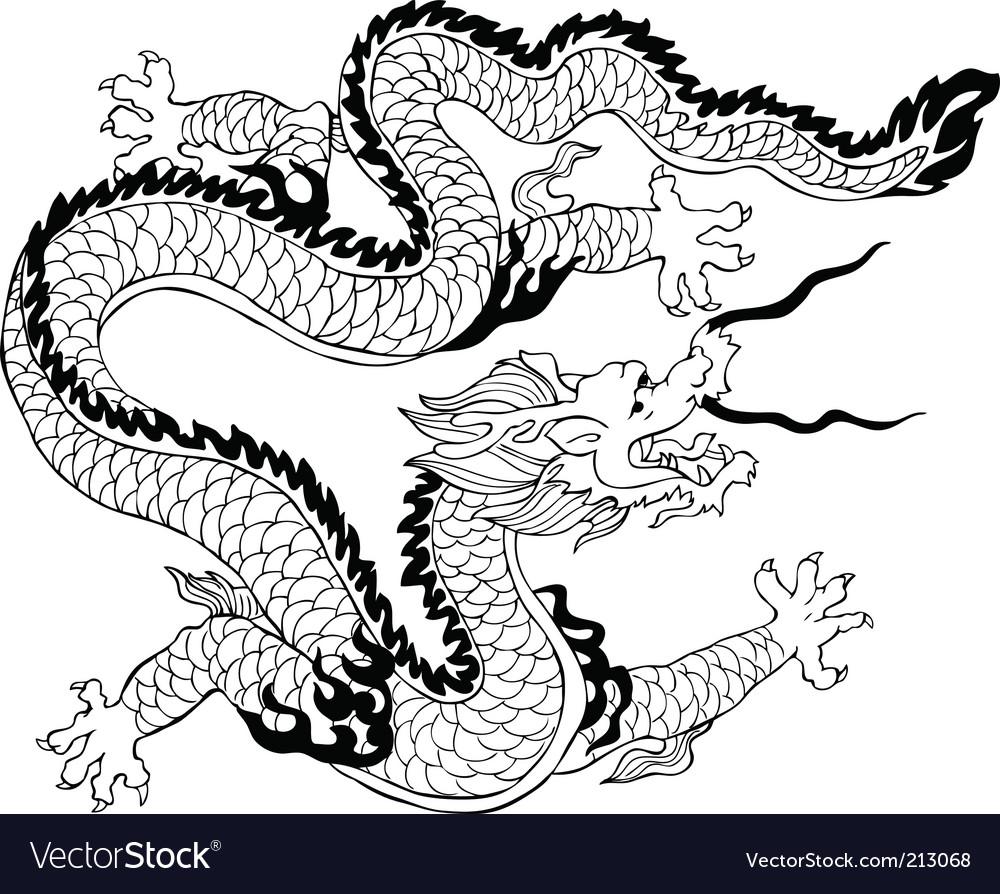 dragon royalty free vector image vectorstock