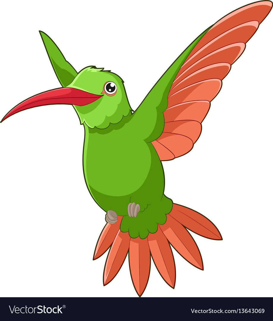 Cartoon smiling hummingbird vector image