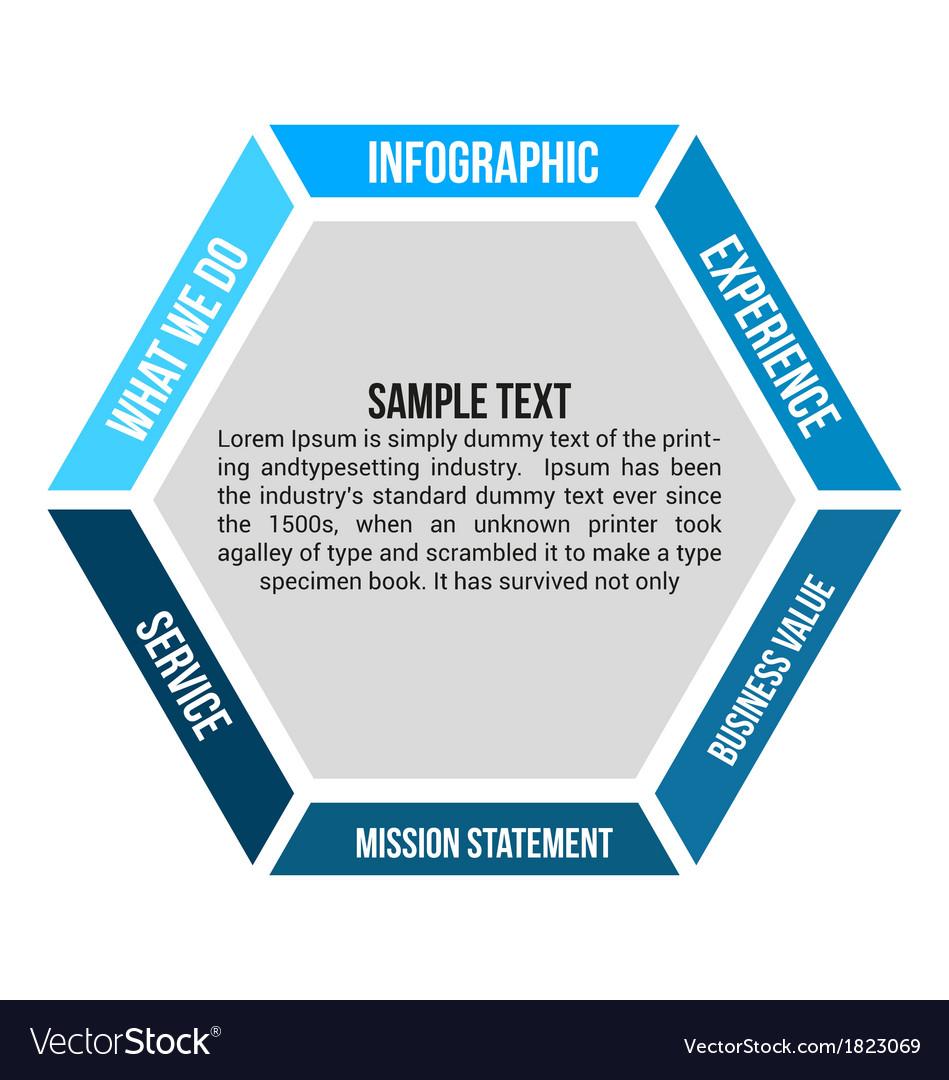 Hexagon infographic element Vol1 vector image