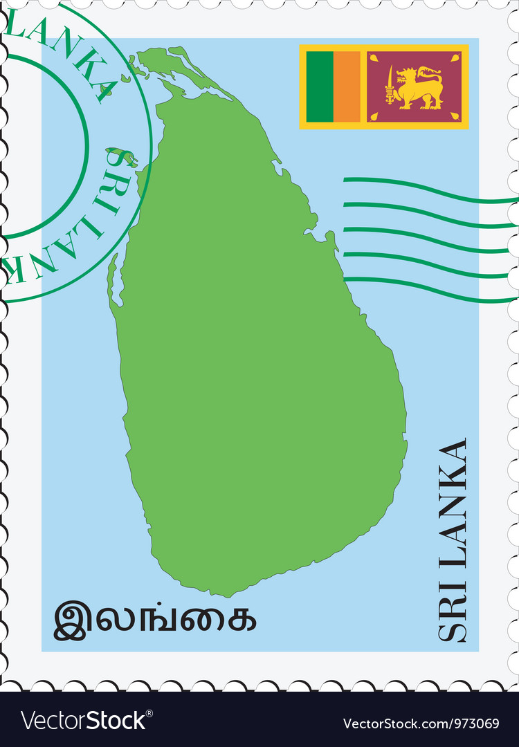 Mail to-from Sri Lanka vector image