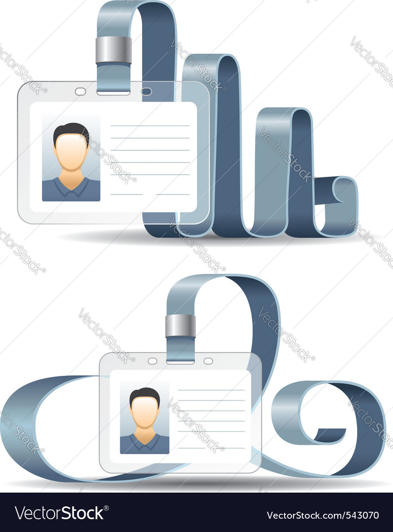 Holder for badge or id cards vector image