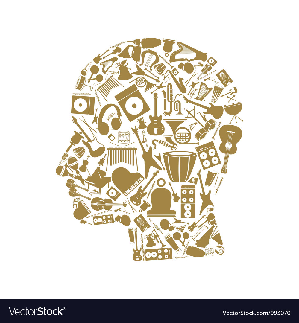 Musical head vector image