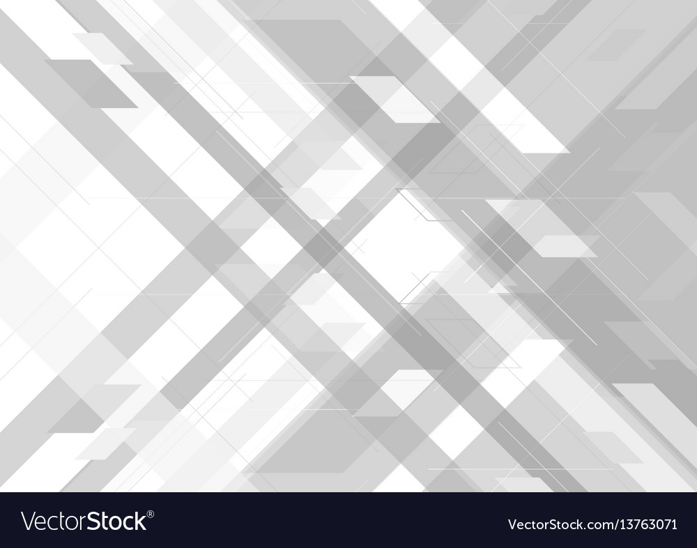 Abstract grey tech geometric background vector image