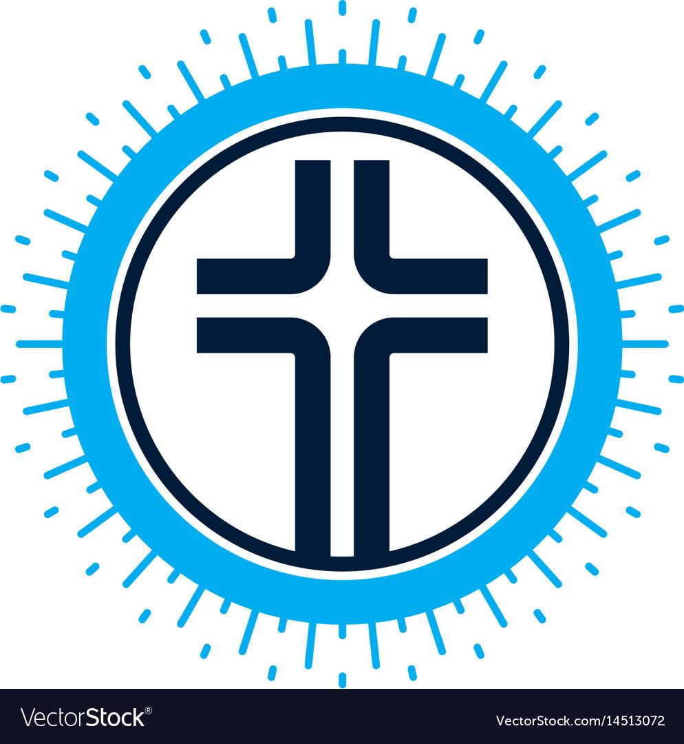 Christian cross symbol christianity god religion vector image biocorpaavc Gallery