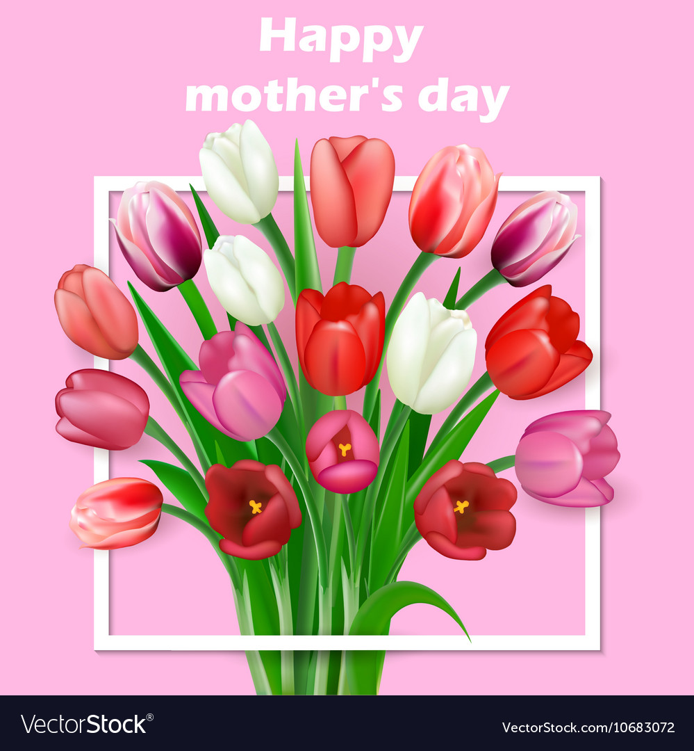 Happy Mothers Day lettering Mothers vector image
