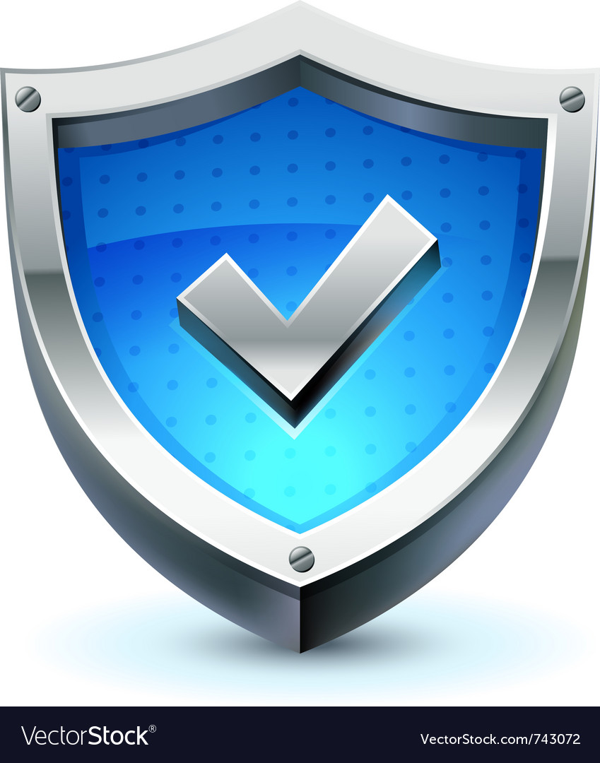 Shield as protection icon vector image