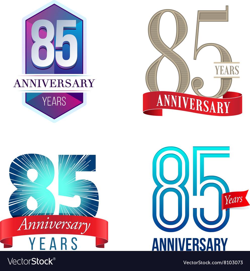 85 years anniversary symbol royalty free vector image 85 years anniversary symbol vector image biocorpaavc