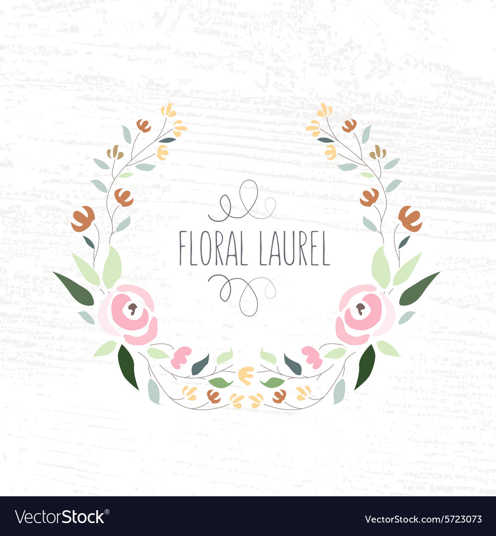 Colorful flat design style foral frame an vector image