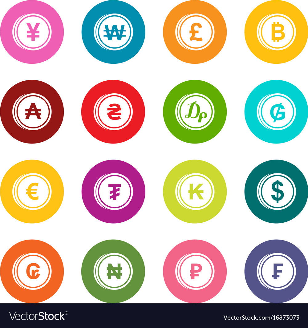Currency from different countries icons many vector image currency from different countries icons many vector image buycottarizona