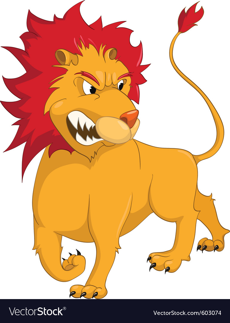 Lion Cartoon Character on Cartoon Character Lion Vector 603074 By Rastudio