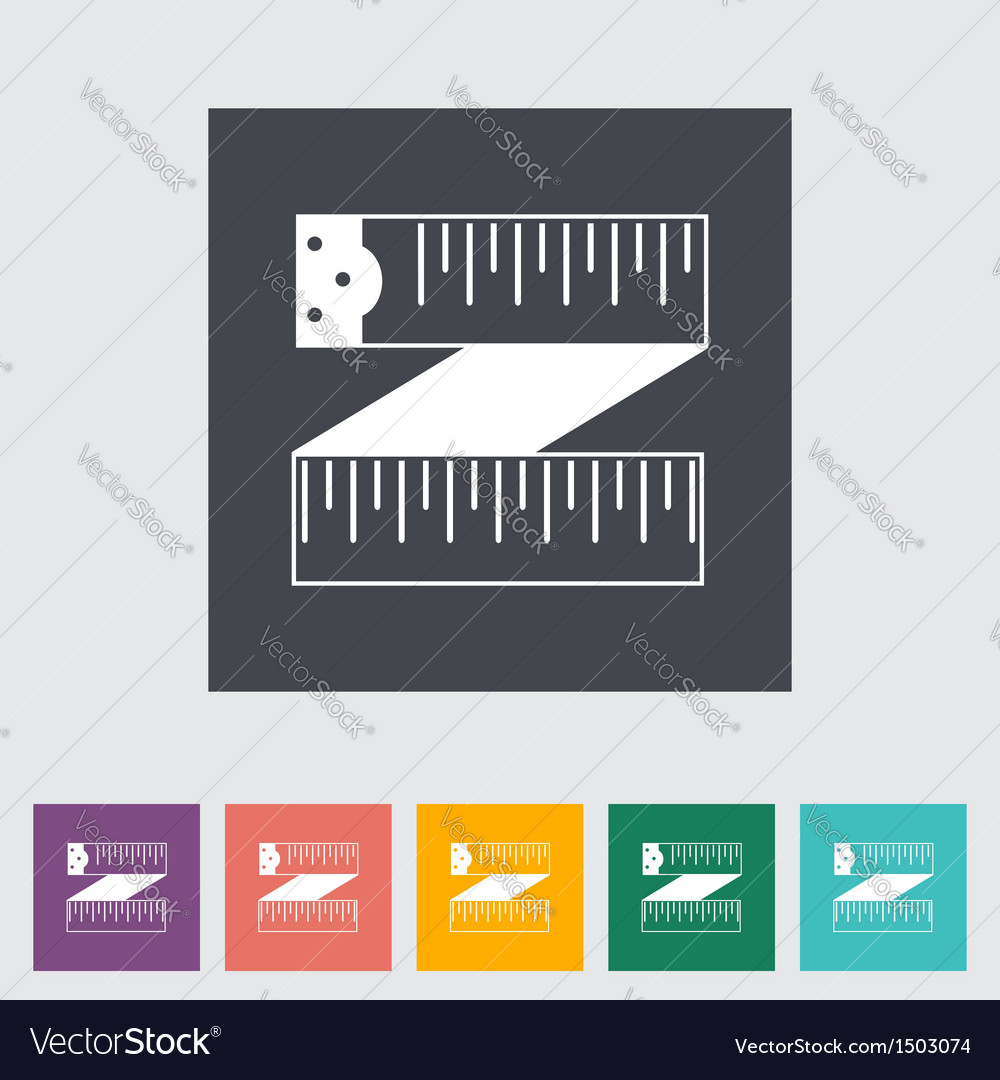 Centimeter icon vector image