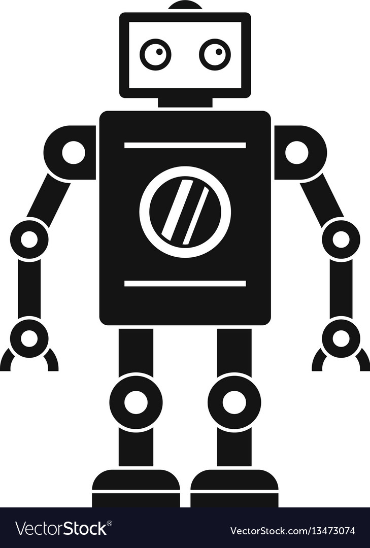 retro robot icon simple style royalty free vector image