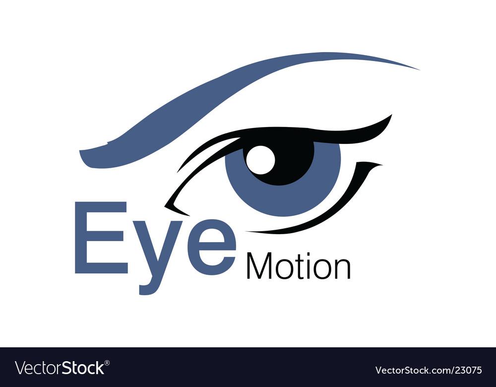 Eyes motion logo vector image