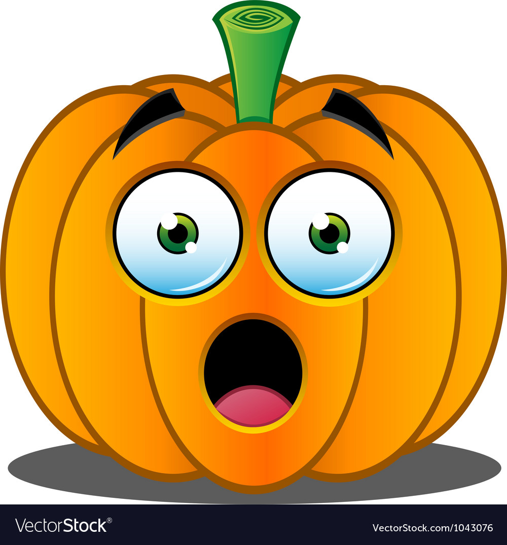 Pumpkin Face - 1 vector image