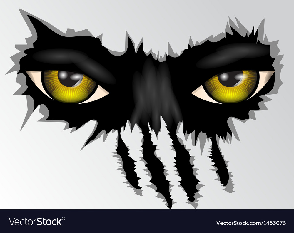 Eyes look vector image