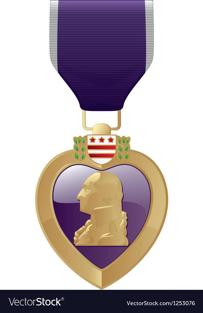 Purple Heart vector image