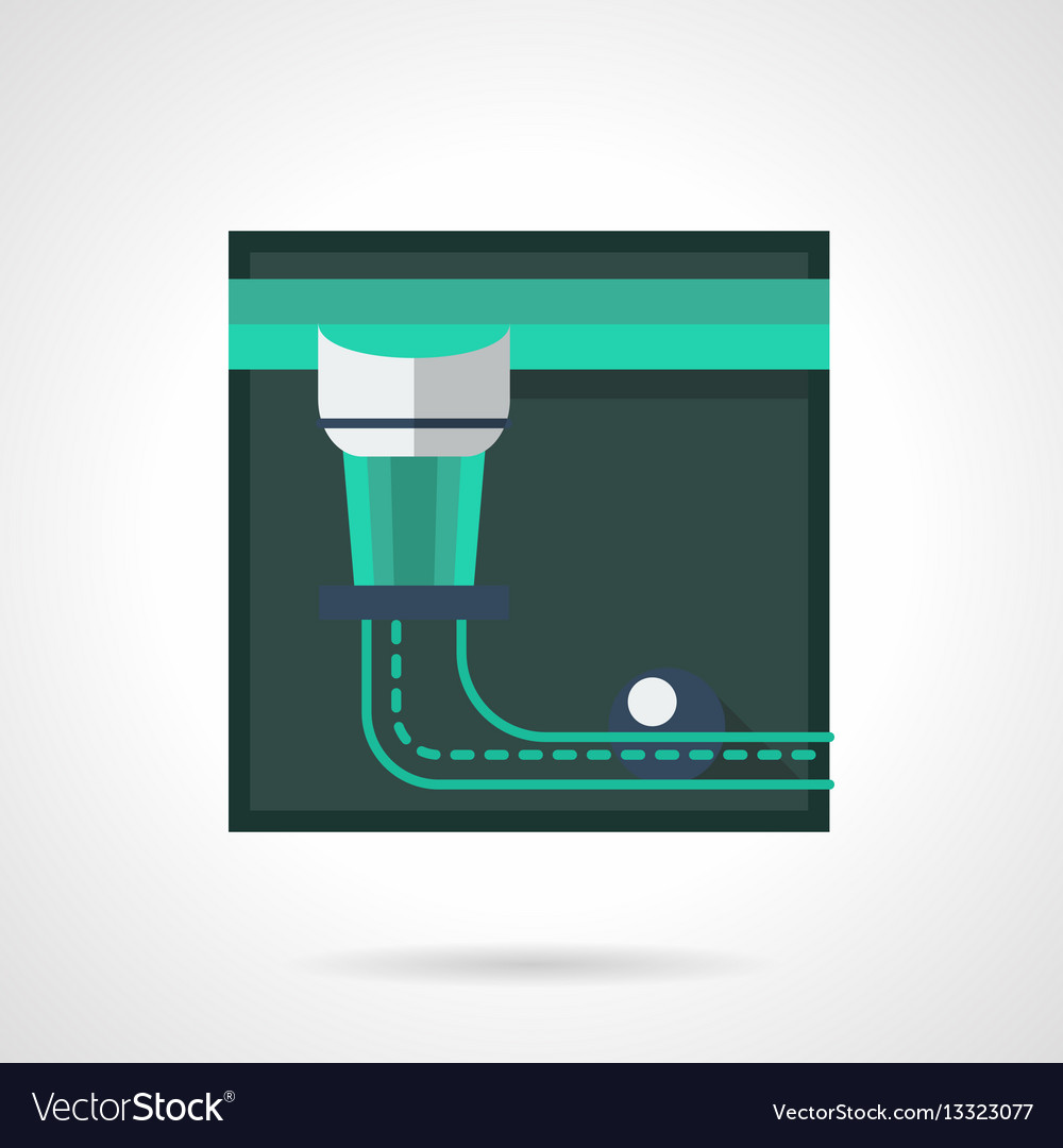 Abstract pool table pocket flat square icon vector image