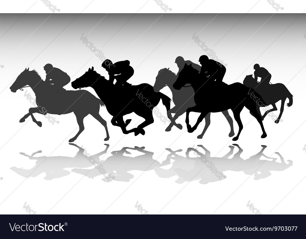 Horse race vector image