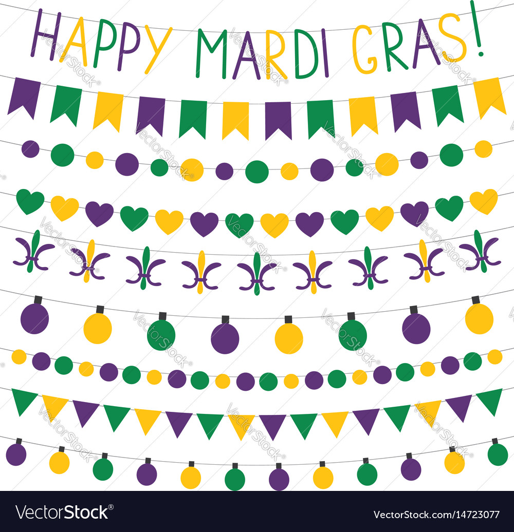 Mardi gras banners vector image