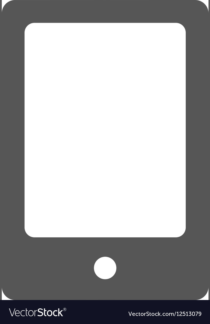 Grey mobile phone icon vector image