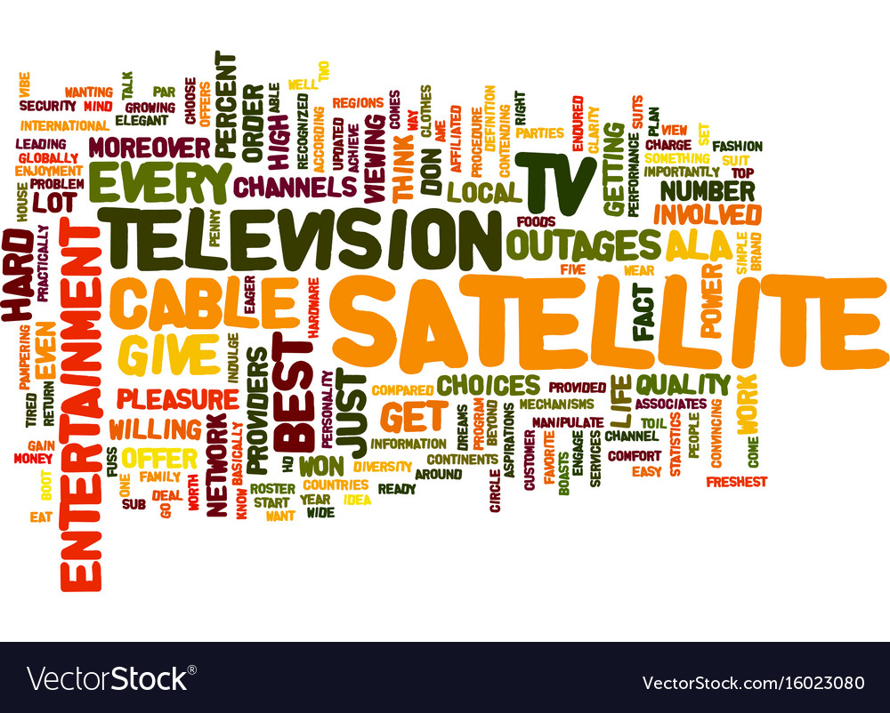 Entertainment ala satellite tv text background vector image