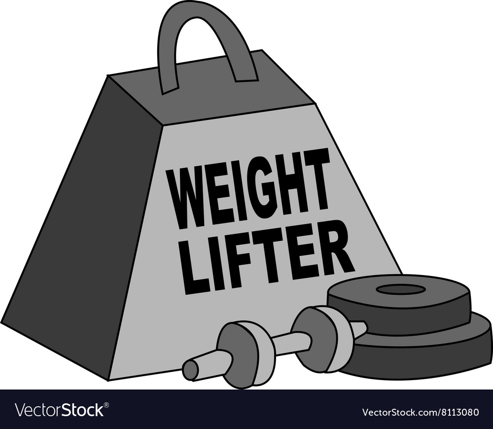 Weight Lifter vector image