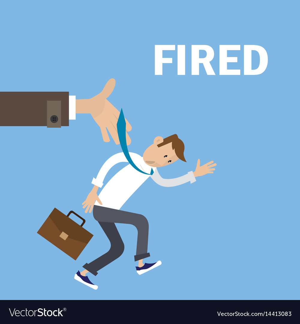 Boss fired employee vector image