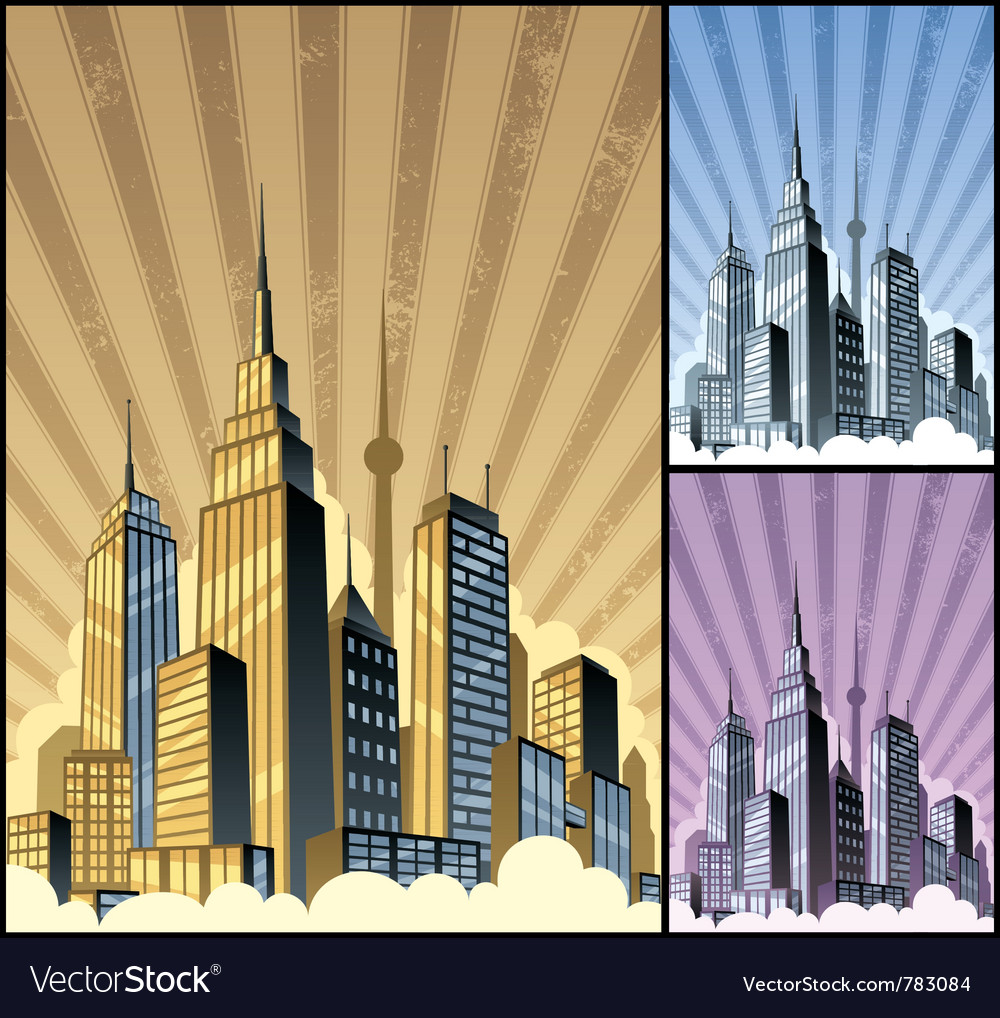 Cityscape vertical vector image