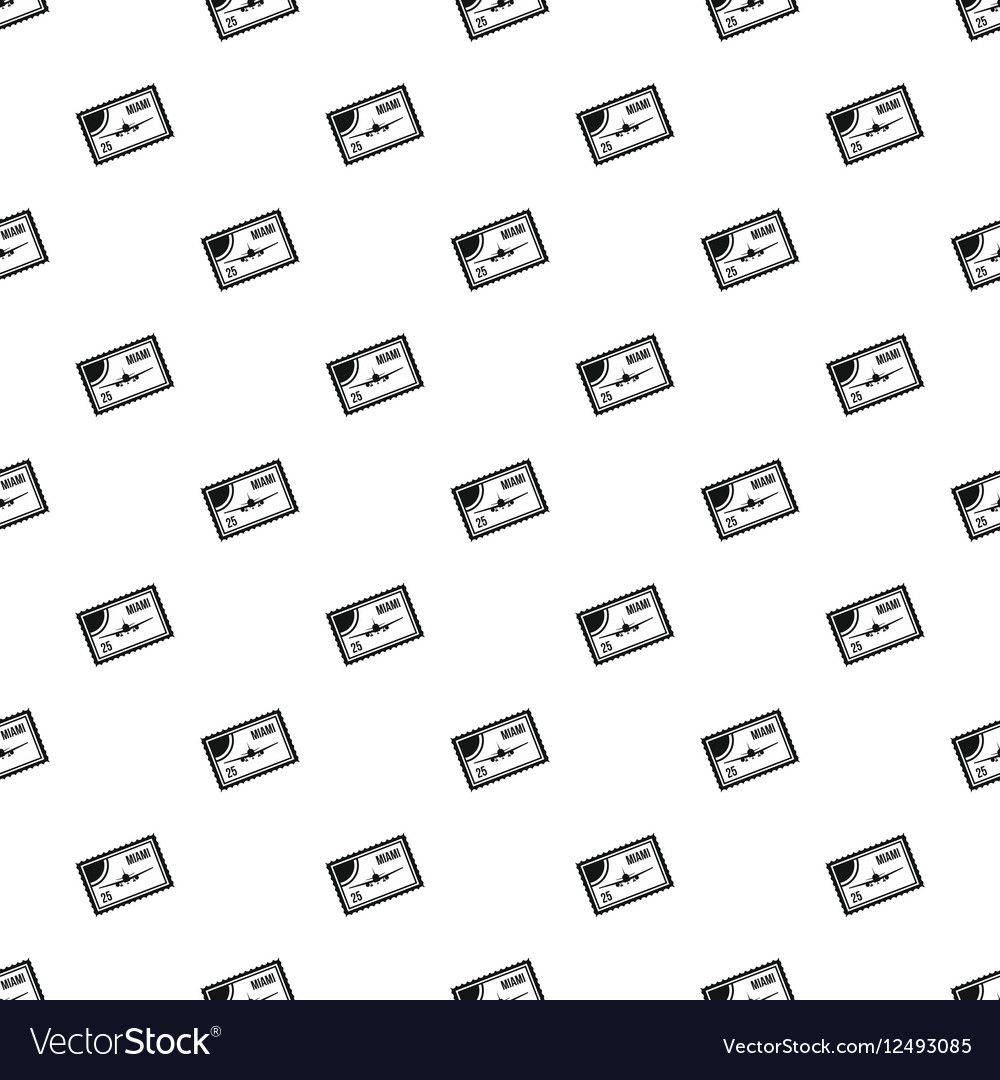 Air ticket to Miami pattern simple style vector image
