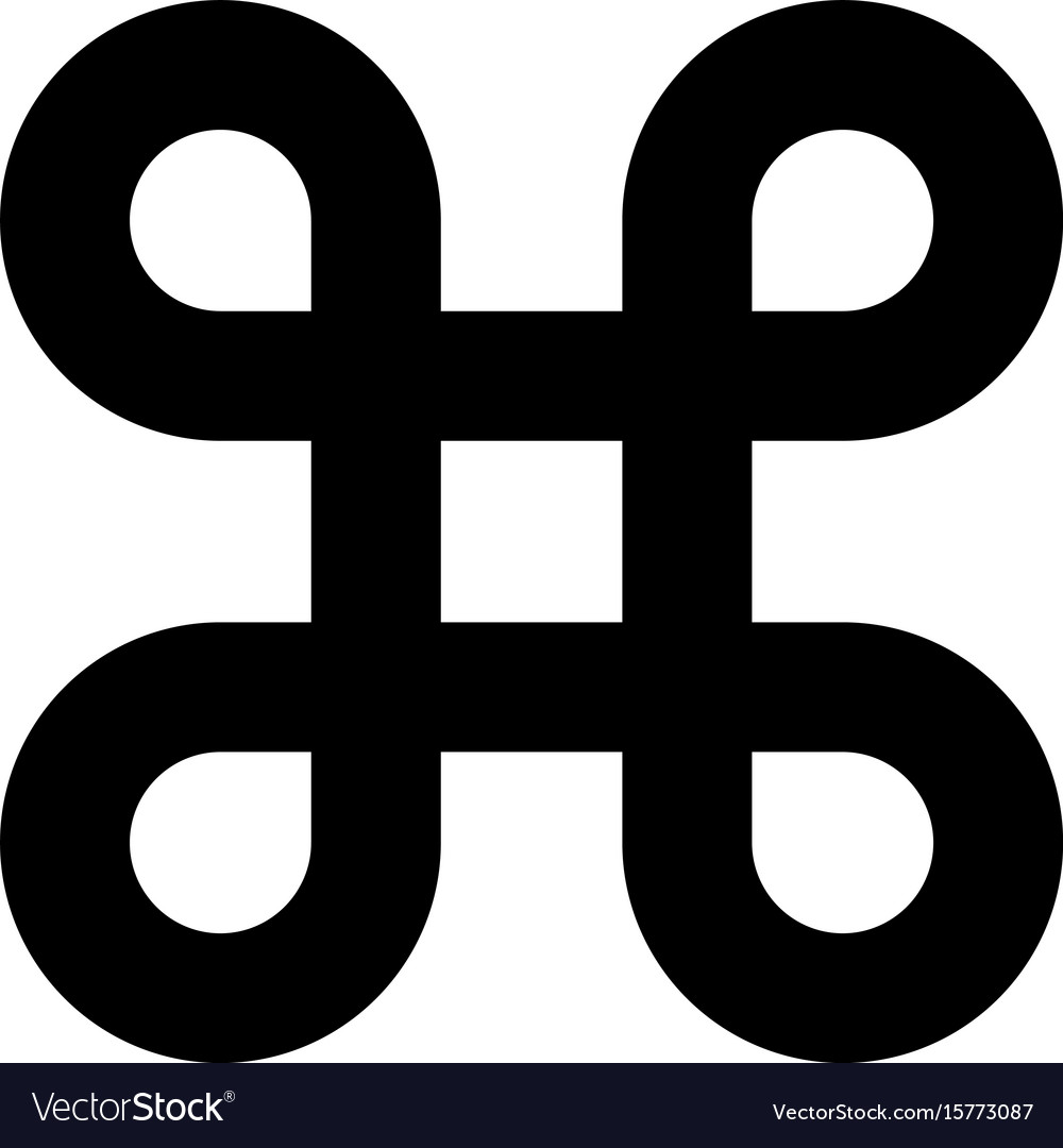 Bowen knot symbol for command key simple flat vector image