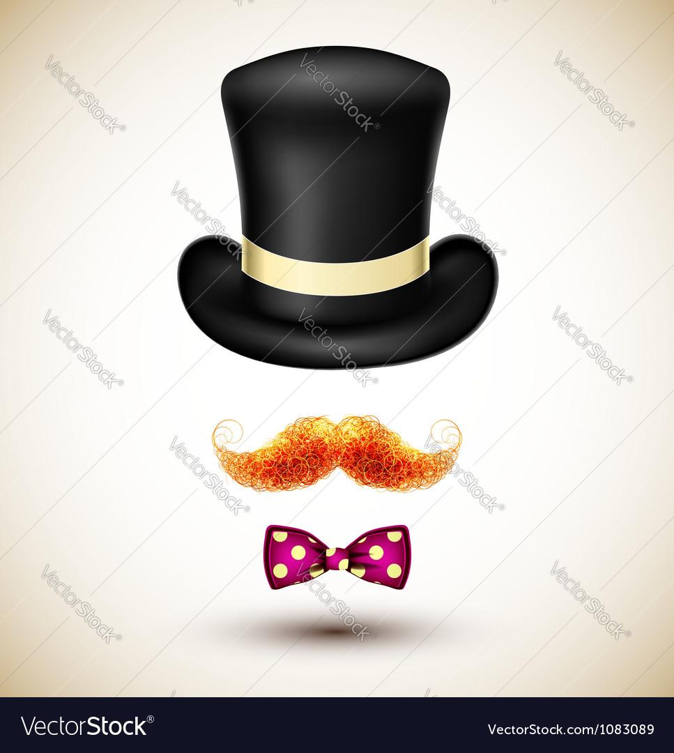 Accessories magician vector image