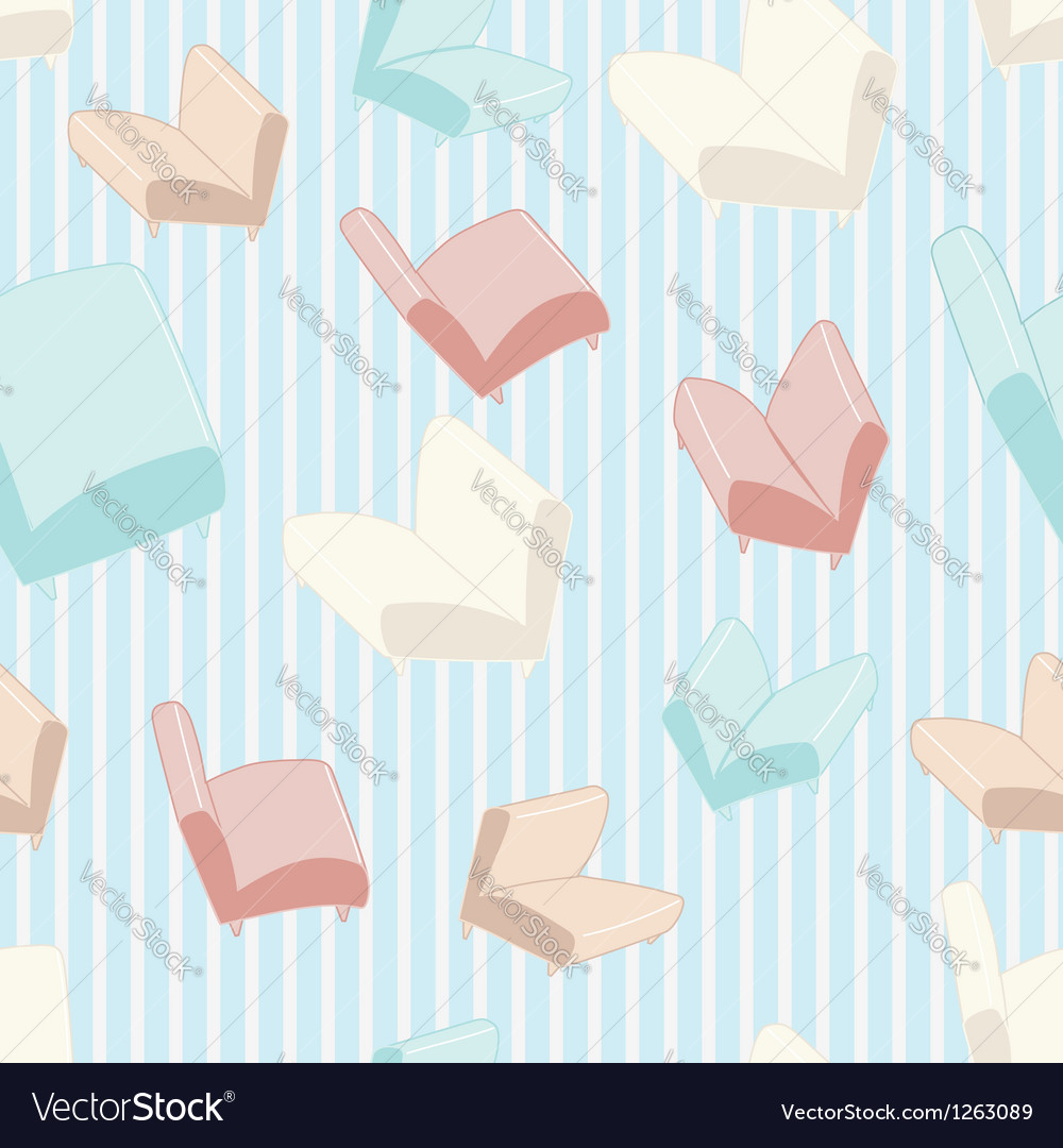 Sofa and chair background pattern vector image