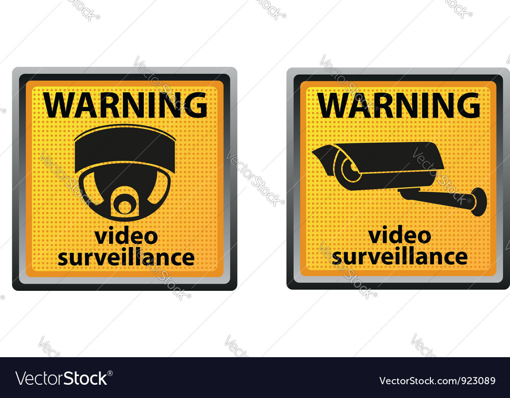 Video surveillance camera 05 vector image