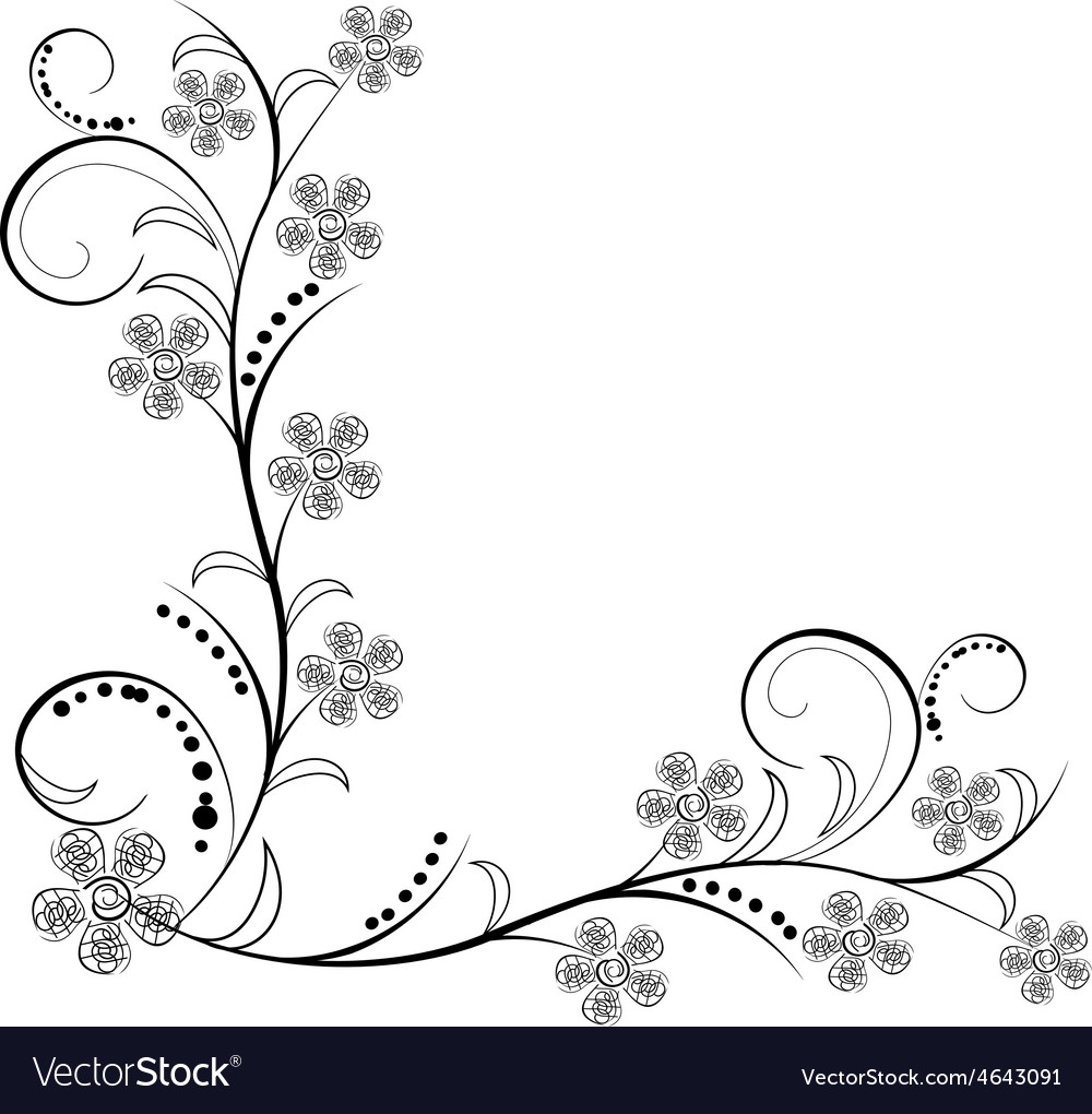 antique flowers ornaments royalty free vector image