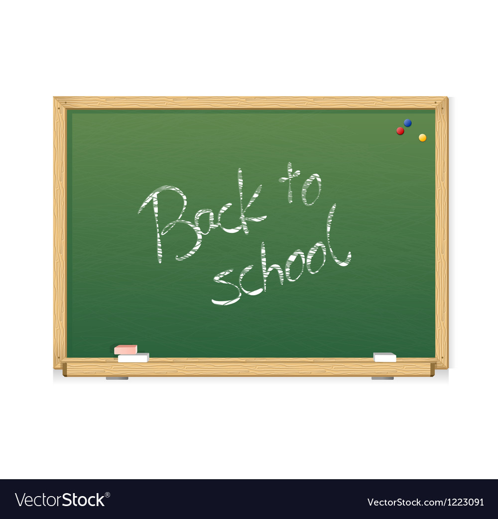 Green chalkboard Back to school vector image