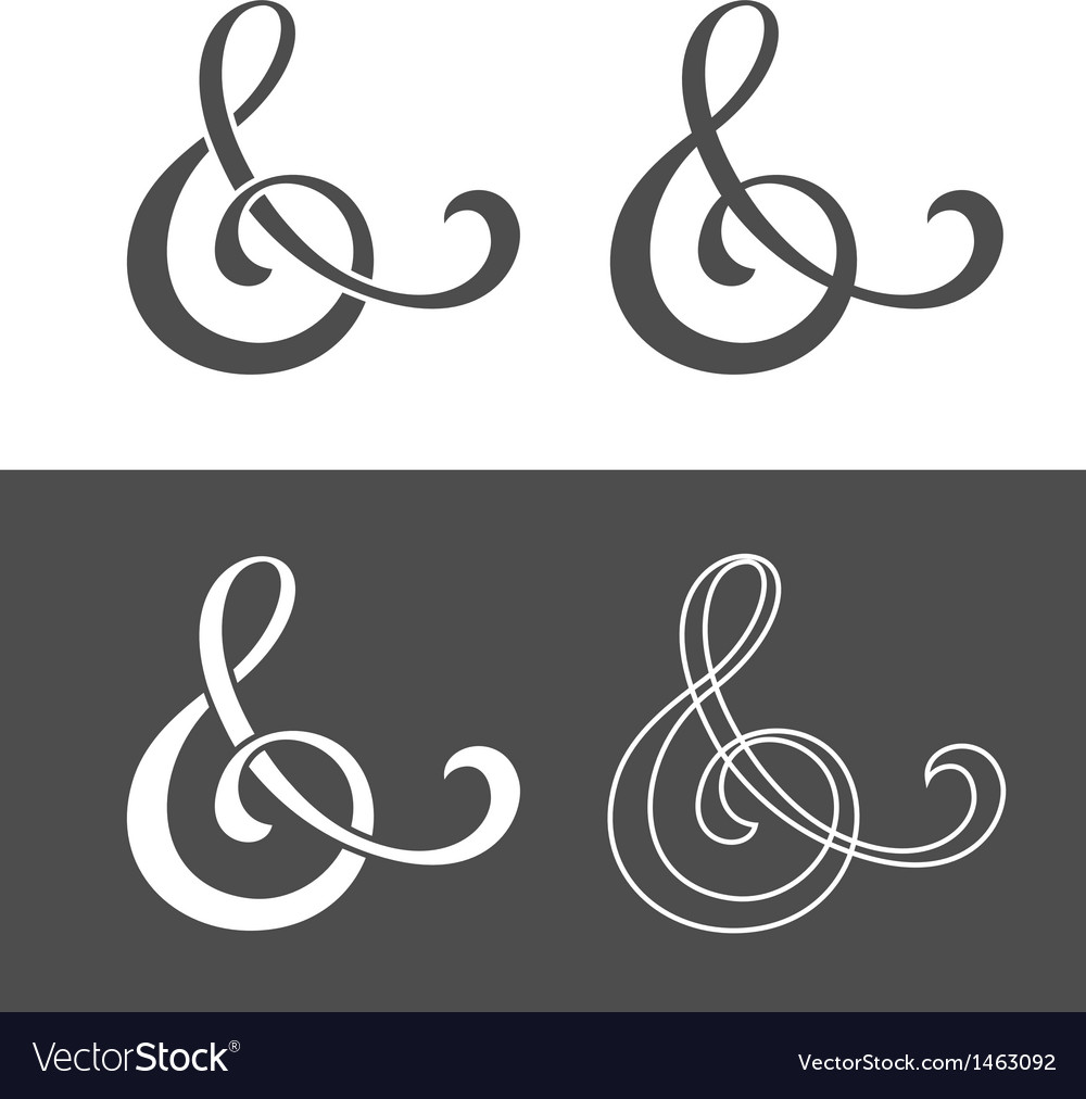 Custom ampersand vector image