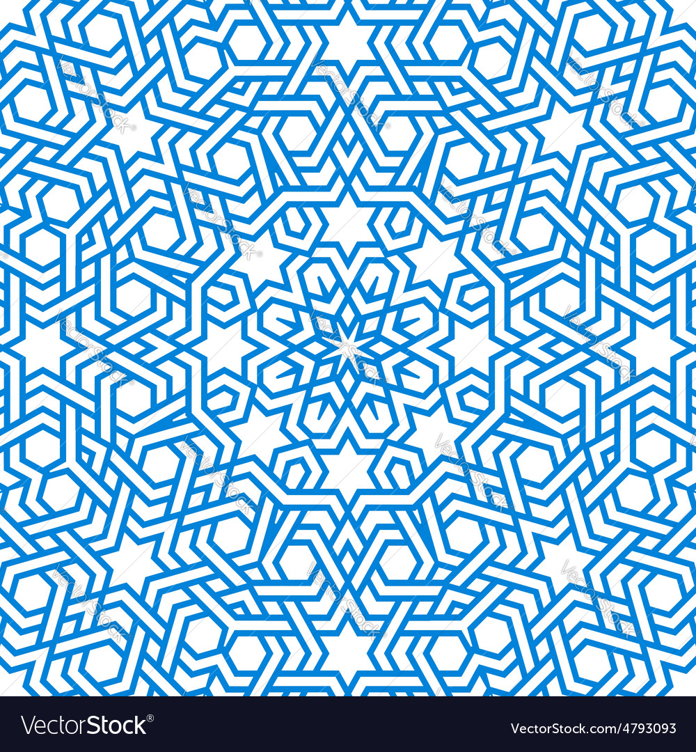 Tangled modern pattern based arabic Royalty Free Vector for Modern Arabic Pattern Vector  110ylc