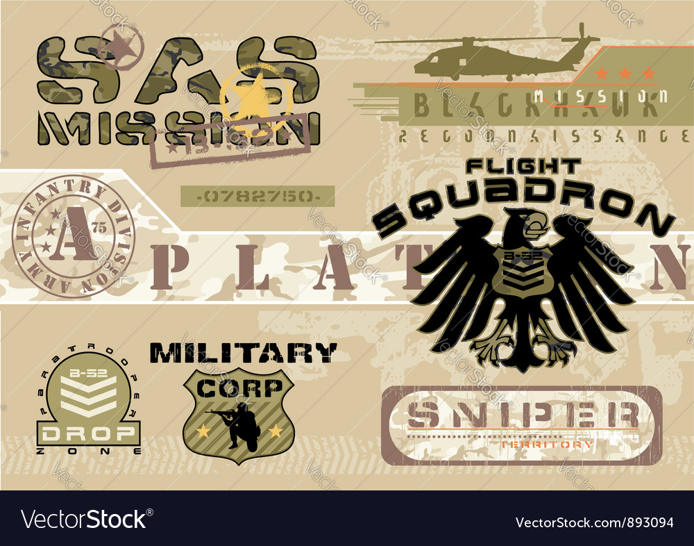 Army Vector Image
