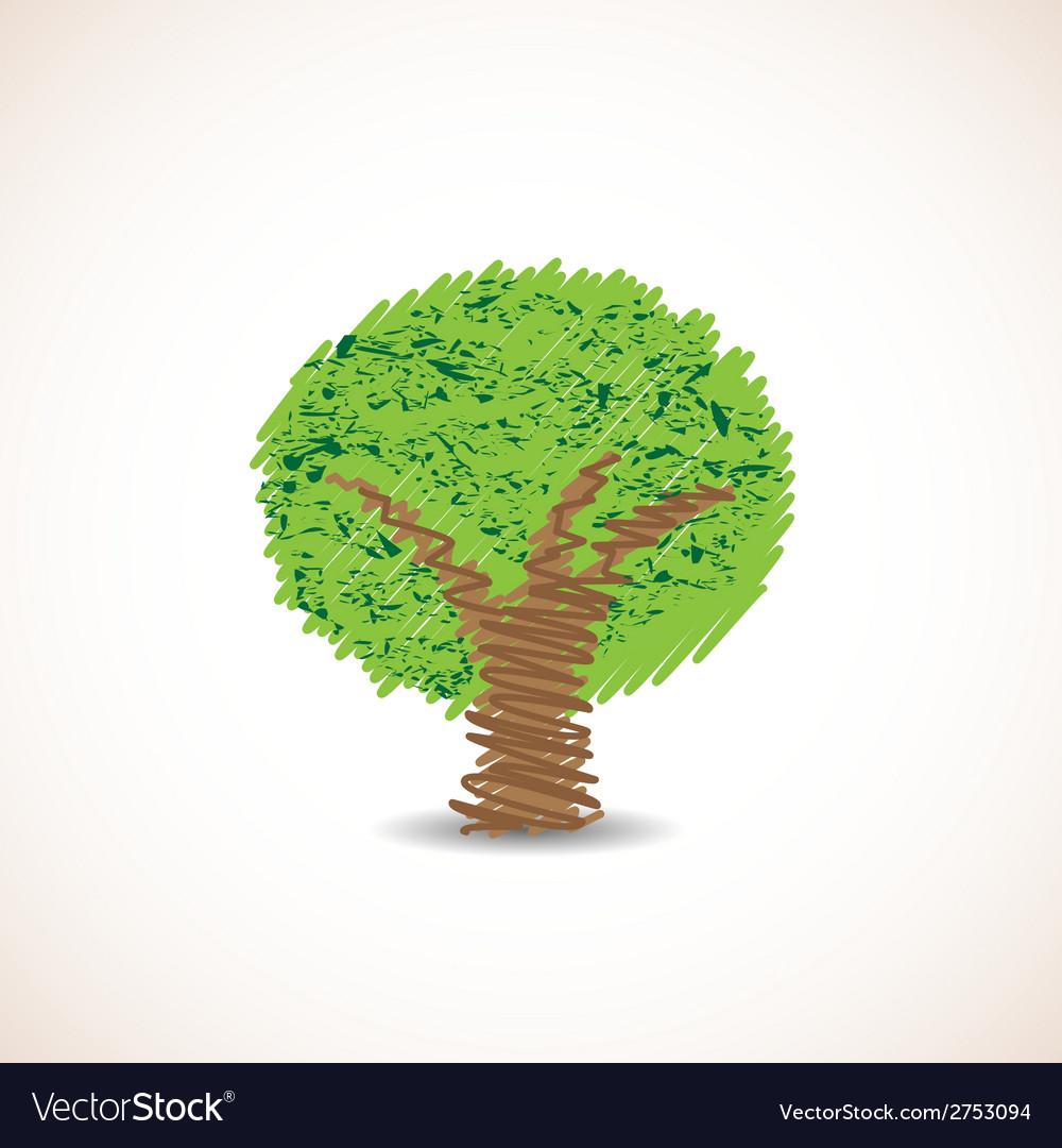 Doodle tree vector image