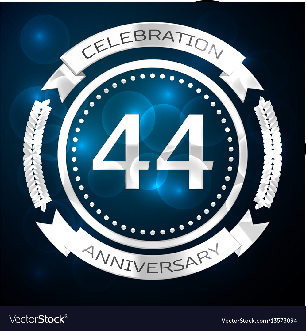 Forty four years anniversary celebration with vector image biocorpaavc Gallery