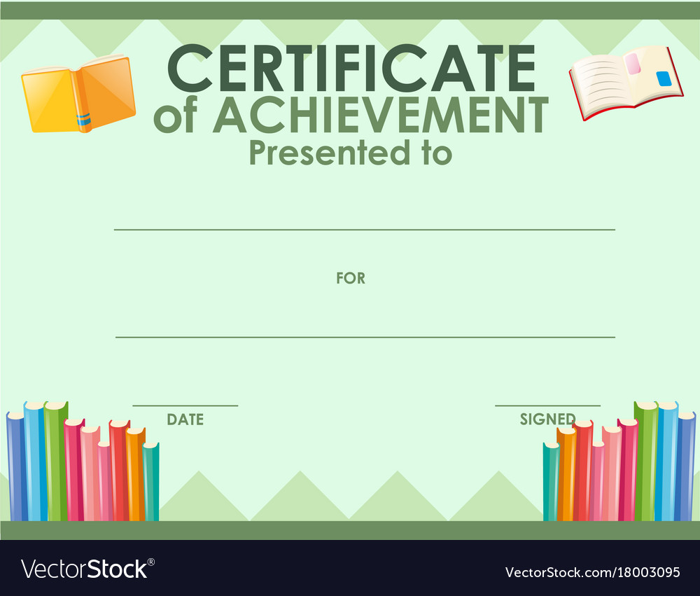 Certification template with many books royalty free vector certification template with many books vector image alramifo Images
