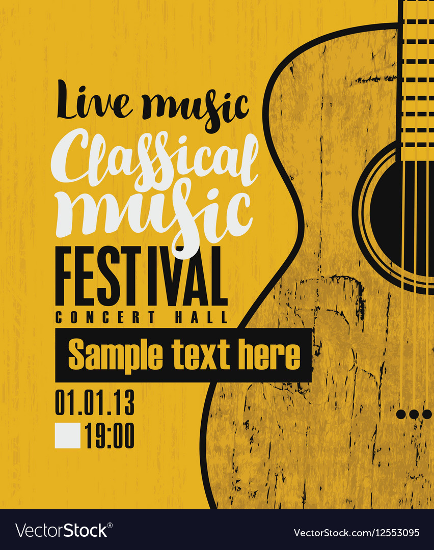 Concert of classical live music vector image