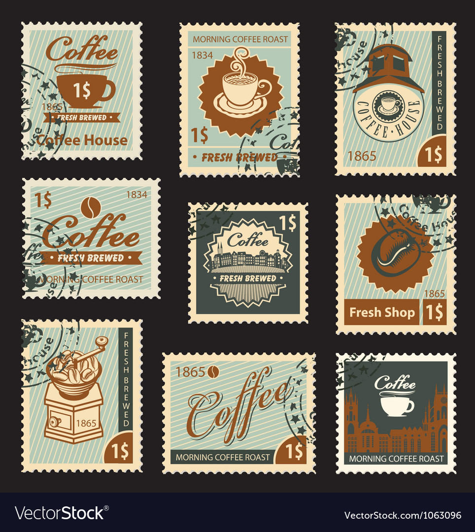 Coffee brand vector image