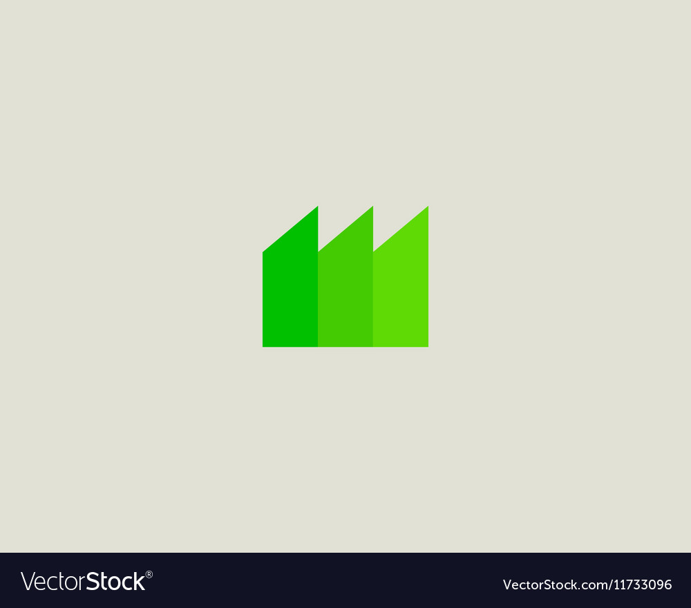 Eco factory logo design template Green energy vector image