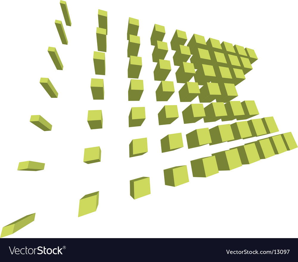Digital boxes formation vector image