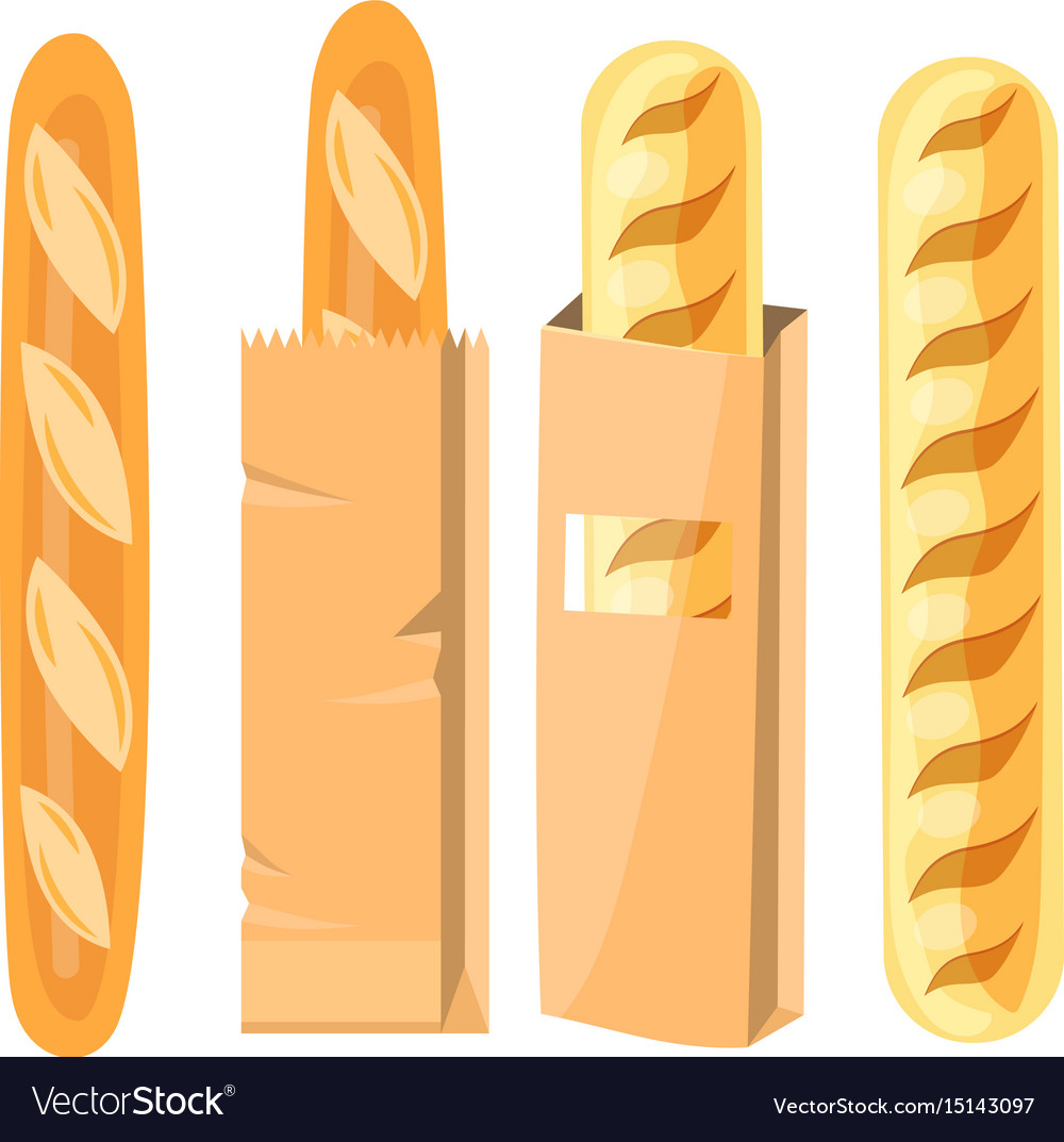 Bread in a paper bag vector image